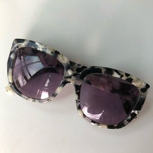 Anthropologie Black and White Oversized Sunglasses